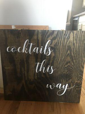 Rustic Wedding/Event Cocktails Sign for Sale in Denver, CO