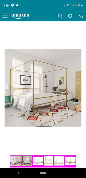 Canopy Bed Frame King Size for Sale in Tacoma, WA