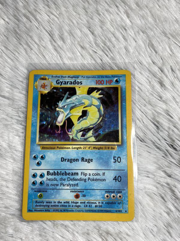 Gyarados - Base Set - 6/102 - Holo-foil Rare - Collectible Pokemon Card