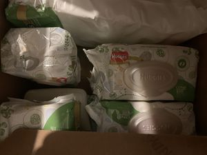 Diapers diaper wipes and dispenser NEW in packaging for Sale in Salem, OR