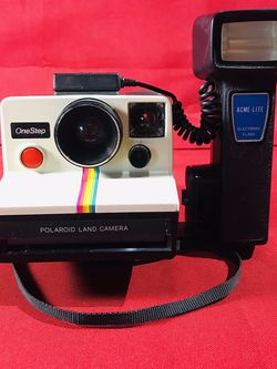 Polaroid One Step Vintage Camera Rainbow With Acne-Lite for Sale in Odessa,  TX