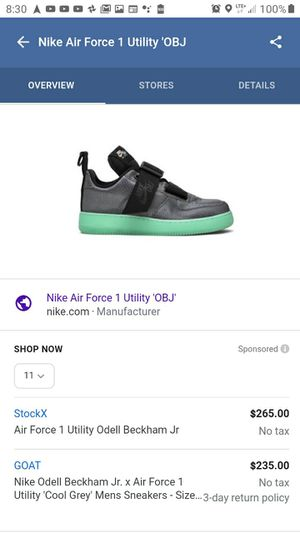 Nike Air Force 1 Utility 'OBJ'-Brand New- Size 11 for Sale in St. Petersburg, FL