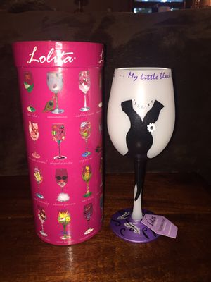 "Lolita Collectors Wine Glass Brand New ""Little Black Dress"" for Sale in West Haven, CT"