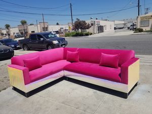 NEW 7X9FT PINK FABRIC COMBO SECTIONAL COUCHES for Sale in Temecula, CA