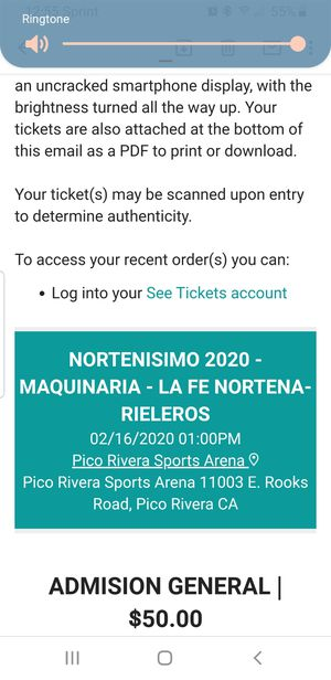 Tickets for Sale in Lakewood, CA