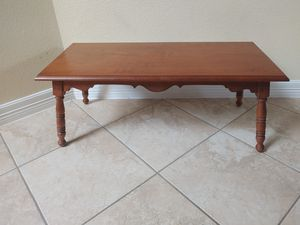 Antique Wood Coffee Table for Sale in La Porte, TX