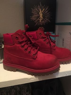 Toddler red timberlands for Sale in Houston, TX