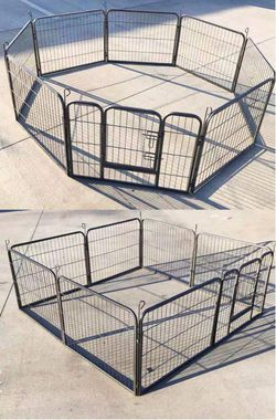 New in box 24 inch tall x 32 inches wide each panel x 8 panels heavy duty exercise playpen fence safety gate dog cage crate kennel expandable fence g for Sale in Los Angeles,  CA
