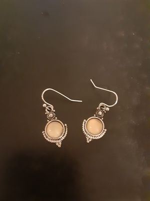 Sterling silver moonstone earrings for Sale in Southbridge, MA
