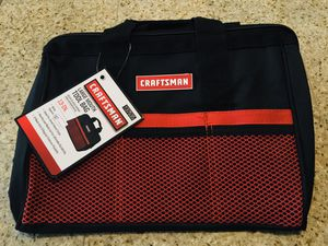 CRAFTSMAN-Large Mouth Tool Bag for Sale in Lake Elsinore, CA
