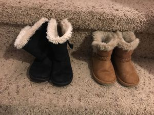 2 pairs girls boots size 8 for Sale in Morristown, TN