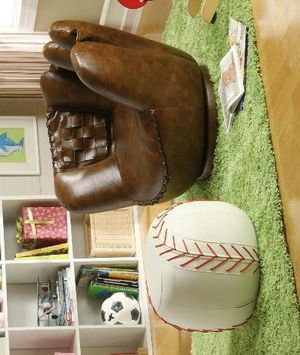 Baseball Glove Chair & Ottoman for Sale in Houston, TX