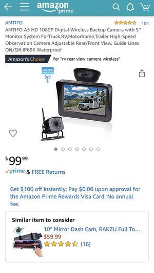 "AMTIFO Digital Wireless Backup Camera +5"" Monitor for Sale in Torrance, CA"