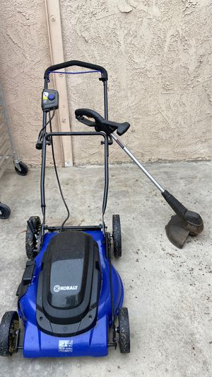 """21"""" Kobalt electric mower and black and decker electric weed wacker for Sale in Riverside, CA"""