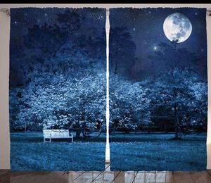 Full Moon Curtains 108 x 84 Backdrop Night Park Living Bed Room Window Patio Door Drapes Home Decor for Sale in Orlando, FL