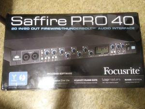 Focusrite Saffire Pro 40 Professional 20 In/20 Out Firewire Audio for Sale in Beaumont, TX