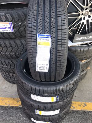 245/45/20 New set of Goodyear tires installed for Sale in Rancho Cucamonga, CA