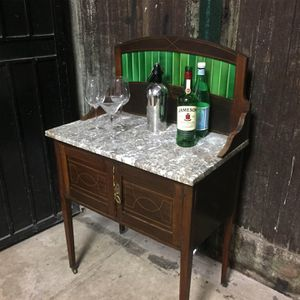 Antique marble table cocktail bar for Sale in Los Angeles, CA