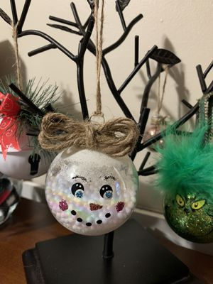 Hand painted glass snowman ornaments for Sale in Chicago, IL