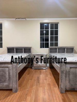 Twin bed & mattress + nightstand for Sale in Huntington Park, CA