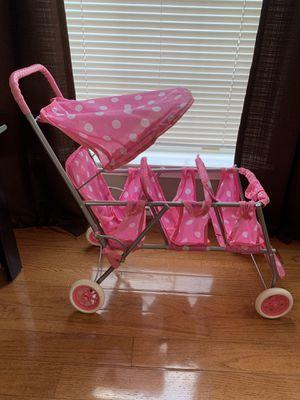 Pink triple doll stroller for little girls for Sale in Ashburn, VA