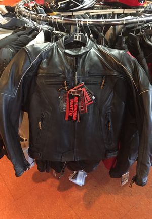 New black leather motorcycle armor jacket $170 for Sale in Whittier, CA