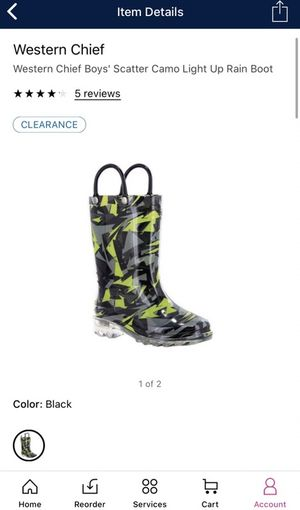 Kids rain jacket and lighted rain boots for Sale in McLean, VA