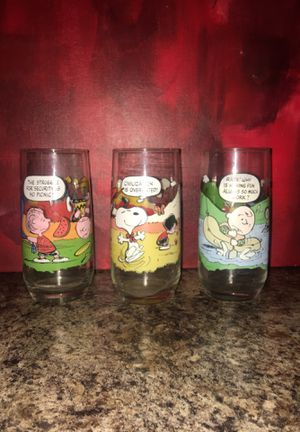 McDonald's Peanuts glasses for Sale in Chandler, AZ