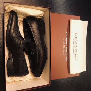 To Boot New York Brussels Black Leather Bit Loafers Size 8 for Sale in Ashburn, VA