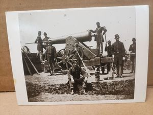 Vintage Soldiers With Siege Gun ,Fort Corcoran ,Arligton , VA ., C. 1863 Photograph By Mathew Brady (B2H) for Sale in Upland, CA