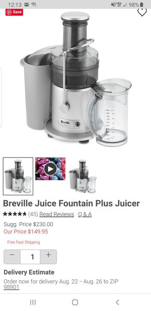 Breville Juicer for Sale in Mill Creek, WA