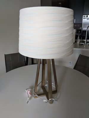 Brushed Gold Lamp with Shade for Sale in Austin, TX