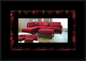 Red sectional with ottoman for Sale in Fairfax, VA
