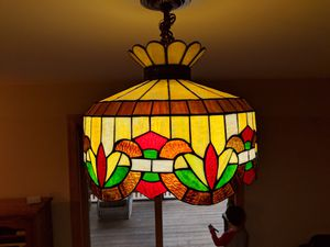 Vintage glass light fixture for Sale in Crofton, MD