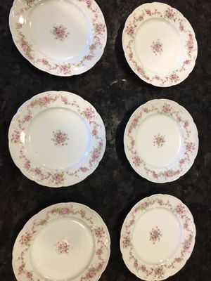 Antique Bassett Limoges Austria porcelain china - Morning Glory pattern, circa 1914 for Sale in San Jose, CA