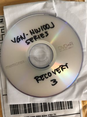 Sony Vaio Recovery Disc for Sale in Aromas, CA