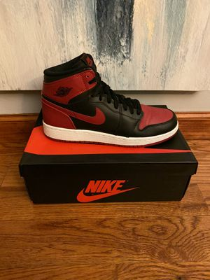 "Air Jordan Retro 1 High OG ""Bred"" for Sale in The Bronx, NY"