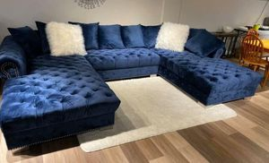 ❣️Brand new.. Delivery Available. ❣️Financing options. ❣️sectional couch living. ((Navy black Gray ❣️ for Sale in Houston, TX
