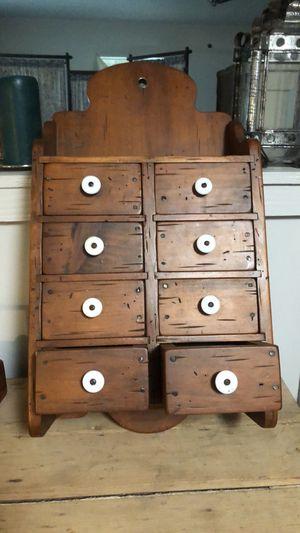 Antique primitive hanging spice cabinet for Sale in Villa Rica, GA