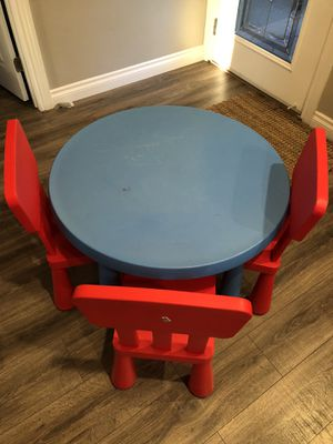IKEA kids chairs & table for Sale in Diamond Bar, CA