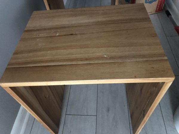 Two small tables/shelf's