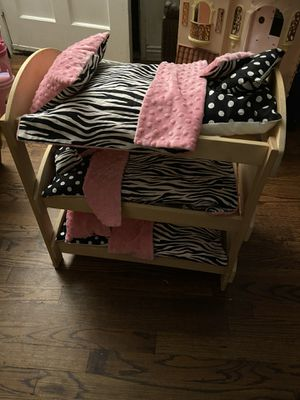!!!!!!!!!Triplet doll bed great for American doll or Out Generation for Sale in Long Beach, CA