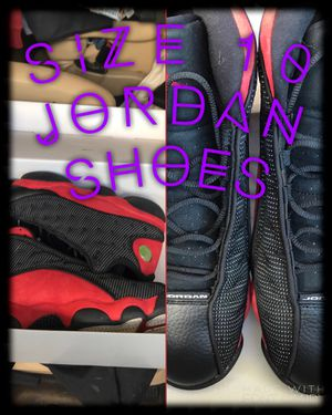 Size 10 Jordan shoes 13 s for Sale in Englewood, CO