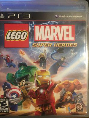 Lego marvel super heroes PS3 for Sale in Manassas, VA