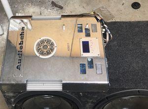 3 Amplifiers/2 Sets of Tweeters/Speaker Box for Sale in Penn Hills, PA