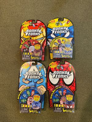 NEW: BonkaZonks super heroes - set of FOUR for Sale in Chicago, IL