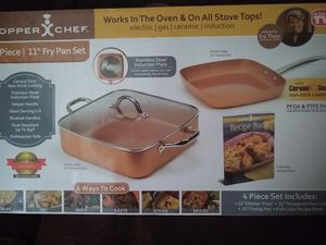 "NEW Copper Chef 4pc 11"" Fry Pan Set for Sale in Deltona, FL"