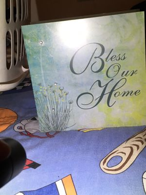 Bless our Home candle holder for Sale in Oklahoma City, OK