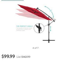 10 ft solar led umbrella for Sale in Dearborn Heights, MI