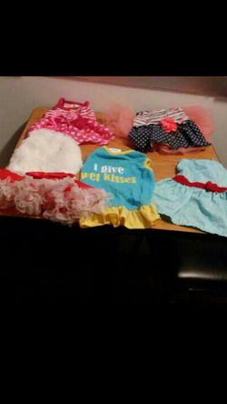 5 Small Girl Dogs Dresses & 3 Sweaters & 1 Coat for Sale in Nashville,  TN